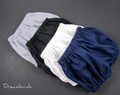 Infant Diaper Cover - Baby Bloomers - Pick Your Favorite Neutral Color - Black, White, Navy or Grey - Size Newborn, 3m, 6m, 9m, or 12m