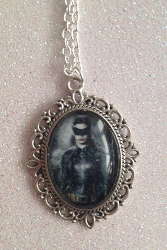 Catwoman Batman Dark Knight Rises Cameo Necklace