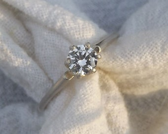 Small Blessings - Lab Diamond and Silver Ring - Size 8