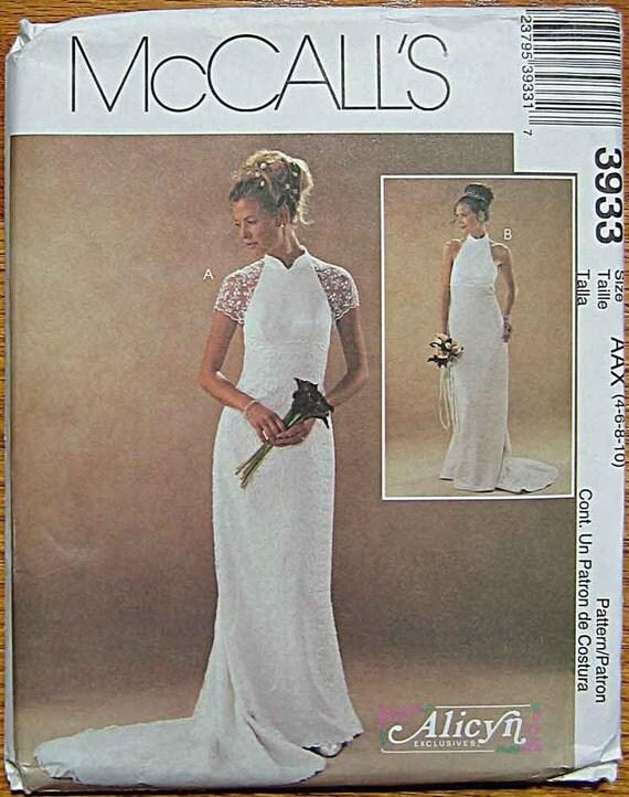 Misses' Alicyn Empire Waist Wedding Halter Dress, Bridal Gown, McCall's 3933 Pattern UNCUT Sizes 4, 6, 8, 10