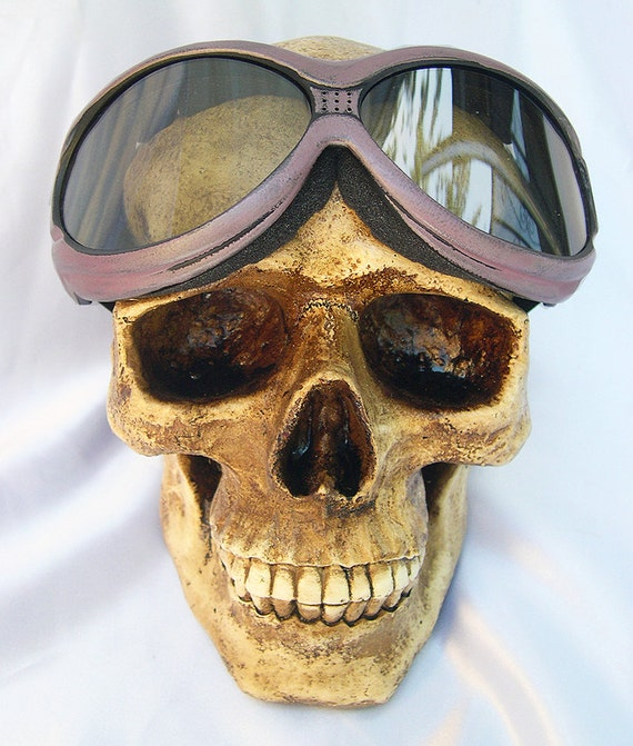 Amethyst Dusty Rose Distressed Look Heavy Duty Oversized OVER GLASSES Cyber-Tech Steampunk SWAT Tactical Force Goggles-Burning Man Must Have