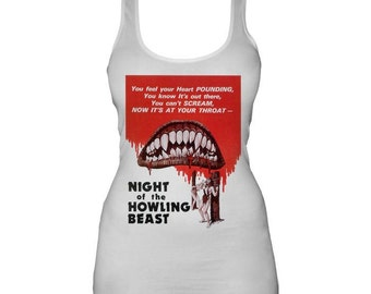 Night of the Howling Beast Horror Movie White Ladies Vest Top S M L