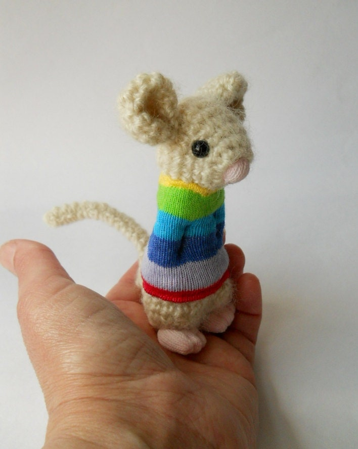 miniature Amigurumi crochet animal mouse doll by ...