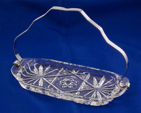 Vintage fire king butter dish with metal handle early american for How to cut glass with fire