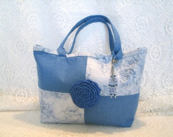 Blue Handbag, hippie clothing bohemian clothing boho clothing gypsy clothing hipster victorian edwardian neo victorian purse tote