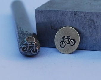 Bike Design Stamp-Metal Stamp LARGE-Exclusive To Me-New 3/8 in.-Metal Stamping Tool-Perfect for Metal Stamping and Metal Work