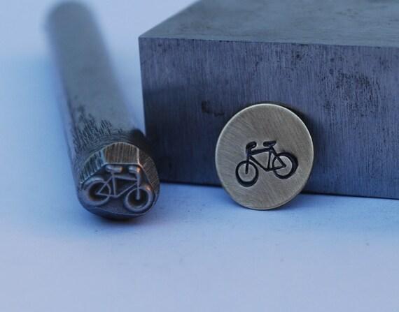 Bike Design Stamp-Metal Stamp LARGE-Exclusive To Me-New 3/8 in.-Metal Stamping Tool-Perfect for Metal Stamping and Metal Work
