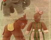 Toy Knitting Pattern PDF 171 all THREE Toys for 5dollars from WonkyZebra