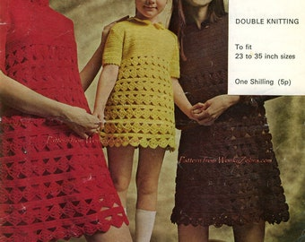 Mother and Daughter Crochet Dresses PDF Pattern 297 from WonkyZebra