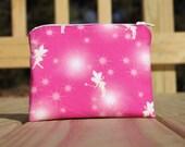5 inch Zipper Pouch - Tinkerbell Pink