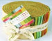 "Bella Solids Warm Jelly Roll   by Moda ""Pre Cut 2 1/2 Inch Strips of Fabric For Your Projects"