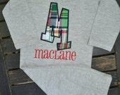 Madras Plaid Gown