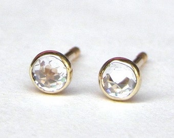 Stud Earrings, Lab Diamonds Earrings, 3mm earrings, valentines day gift, wedding gift,anniversary gift, Gift for her, Mom gift, Girls gift