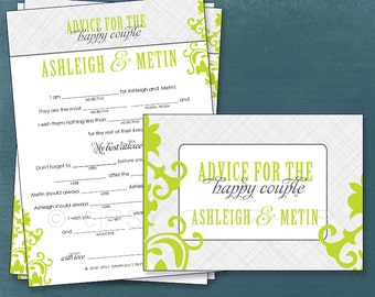 Scratch Damask. Modern. Well Wishes for Baby / Couple. Mad Libs. Adlibs. By Tipsy Graphics. Printable Cards, any colors