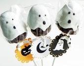 Ghost Brownie Pop - Halloween Brownie Pop
