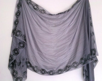 Lilac Mauve Silk Belly Dance Veil