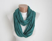 infinity scarf Loop scarf Neckwarmer Necklace scarf Fabric scarf  Green