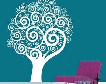 abstract tree----Removable Graphic Art wall decals stickers home decor