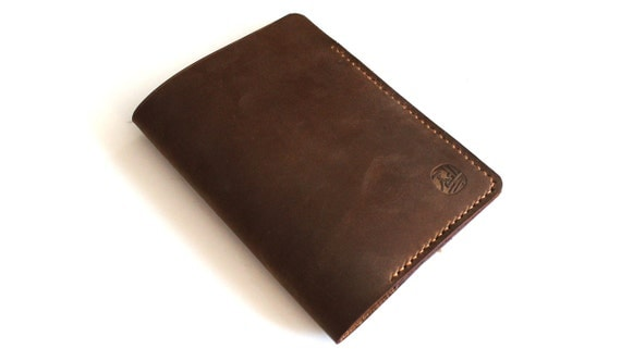 Hand-stitched Passport cover in Soil Brown (Free Monogram)