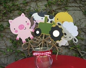 On The Farm Table Decorations - SET OF SIX - Made To Order