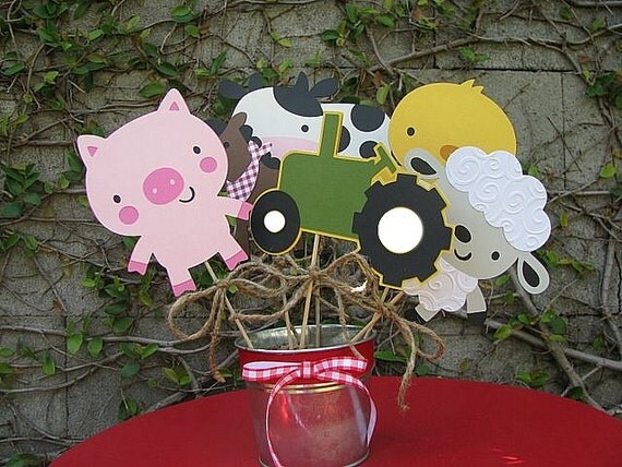 On The Farm Table Decorations - CHOOSE THREE - Made To Order