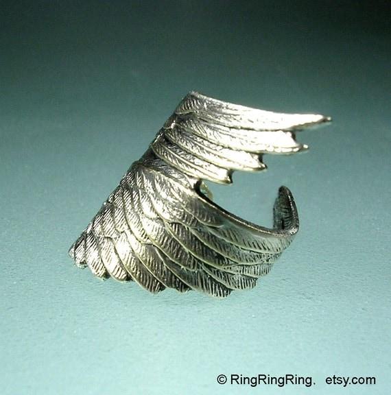 Archangel wing ear cuff No.2, Sterling Silver Ear Cuffs clip earring, Unique earcuff Jewelry for men & women, Left
