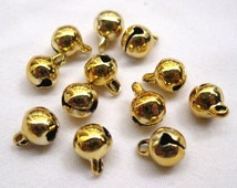 50pcs Gold Jingle Bells Bronze Charm Crafts for Jewelry Design b002 6mm 8mm 10mm - Pick