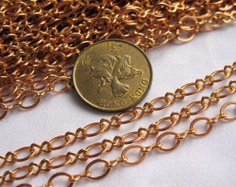 6ft Oval Link & 8 Copper Chain Supplies Jewlery Findings bc014