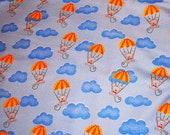 Parachute Mice Flannel Fabric 1yd Pre-Washed