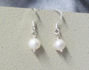 Classic Pearl Dangle Earrings, Bead Earrings, Drop Earrings