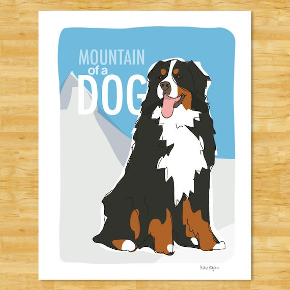 Bernese Mountain Dog Art Print - Mountain of a Dog - Bernese Mountain Dog Gifts Dog Pop Art