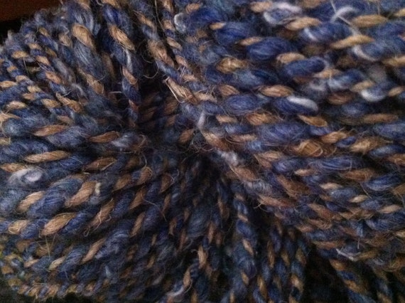 Denim and Hemp Handspun Yarn