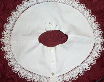Vintage  50s Lace and Cotton Collar Peter Pan Collar
