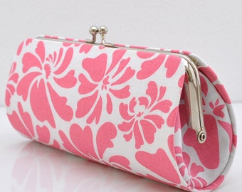 Posy in Pink..Small Clutch Purse