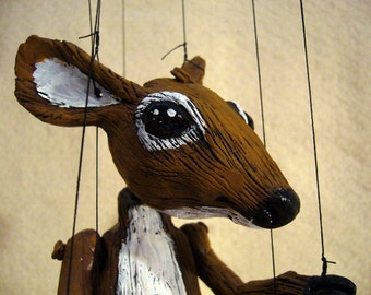White Tail Deer marionette, Made-to-Order.  hand-made, OOAK