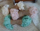 Shabby Wrinkled LIVIA ribbon bundle, 15 yards