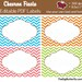 Chevron Fiesta Labels - EDITABLE PDF Labels - Add your own Text and Font -  Instant Download and Print