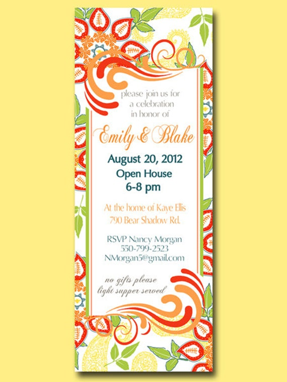printable custom invitation for any occasion shower open