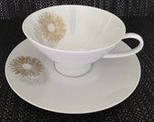 Rosenthal Sunburst by Raymond Loewry Teacup and Saucer Porcelain Made in Germany
