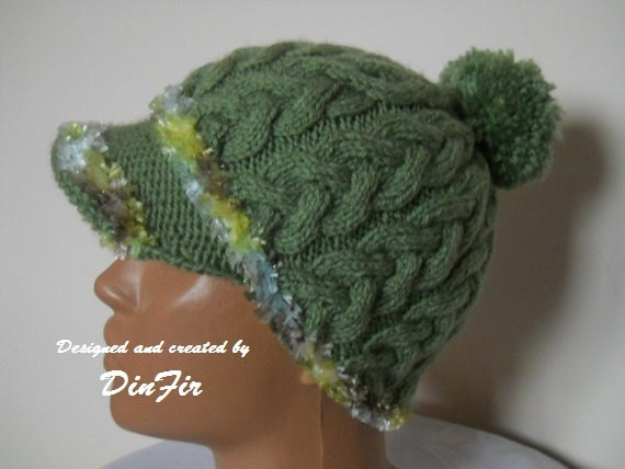 WARM  KNITTED  Women  HAT, Knitted Hat With Pompom,  Cold Season Accessories,  Winter Hat in Handmade