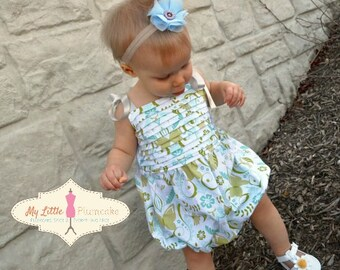 "Easy Baby Girl Sewing Pattern - The ""Bryn"" Romper"