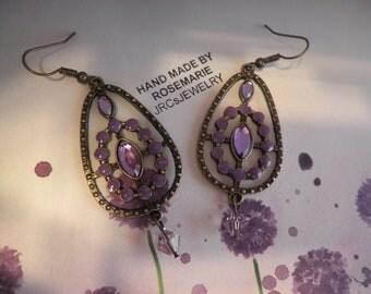 Circle of Purple Earrings