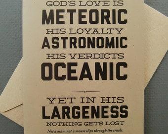 God's Love is Meteoric Card-Encouragement Card-Digital Download