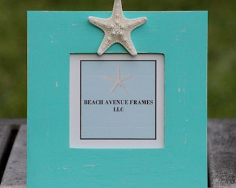 Hand Painted Picture Frame Beach Theme