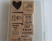 Free Shipping and Discounted...Business Memos Stampin Up Rubber Stamp Set