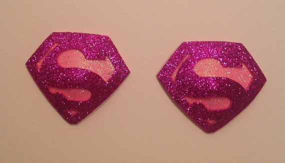 Glittery pink Superwoman pasties