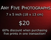 Special Offer - Buy Any Five Photographs 7 x 5 inch - Great Saving