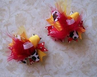 Disney Hair Bows Funky Fun Over the Top Bows---Toy story hair bows cowgirl hair bows jesse hair bows