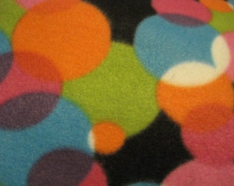 Blanket of Dots and Spots on Black with Bright Green - Ready to Ship Now