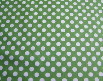 Green Small Cotton Dots Riley Blake Designs 1 Yard